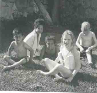 Daniel Vidrio, Tina Toolsie and friend, Beatrice and Ben Butler, 1968?
