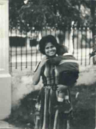 Estela Vidrio, with son, 1966?