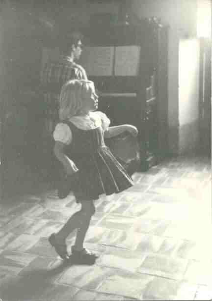 Beatrice Butler dancing while Walter Bradford plays Bach,1964