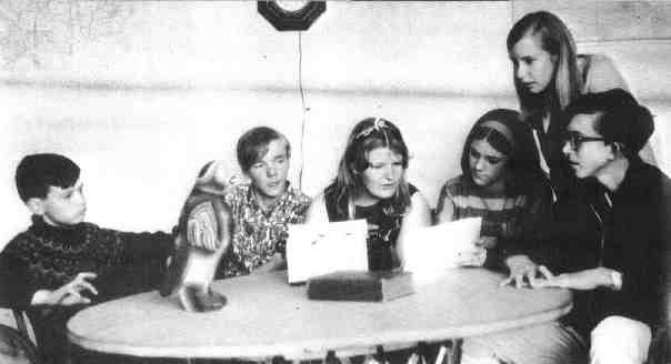 Honor Council, 1968: Derek Hibbard, Matthew Sills, Nicola Nason, Nicole de la Roza, Michelle French, Bill Armstrong